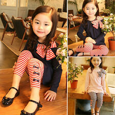 Toddler Kids Baby Girls Outfits T-shirt Tops Dress + Long Pants Suit Set Autumn