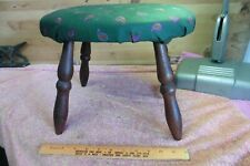 vintage Stool foot piano wooden legs reupholstered solid ottoman