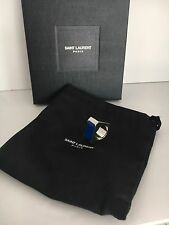 Saint Laurent YSL BLOCK Ring Logo Blue Size  6 Jewelry