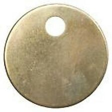 "25 Round 1-3/8"" x .060 Blank Brass ID tags Pets Keys Tools Valves"