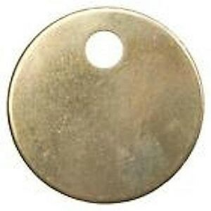 "50 Round 1-1/4"" Blank Brass ID tags Pets Keys Tools Valves"