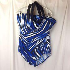 Plus One-Piece Geometric 24W Swimwear for Women