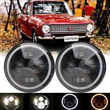 """7"""" Inch Angel Eye LED Headlight Hi/Lo For Datsun 240Z 260Z 280Z 280ZX 1970-1978"""