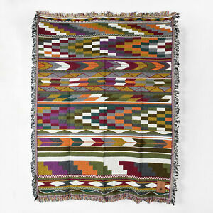 Coast Salish Woven Cotton Blanket Debra Sparrow Mother Design