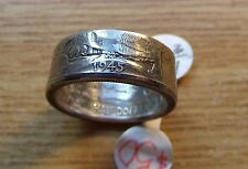 USA SILVER WALKING LIBERTY 1935-1945 COIN RING, Size 10 or Sized to fit.
