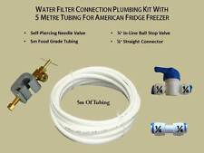 Water Filter Connection Plumbing Kit with 5m Tubing for American Fridge Freezer