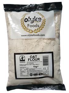 Olyke GlutenFree Oat Flour 1kg (200g x 5) 100% Wholegrain Pure British Oats