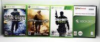 Call of Duty Modern Warfare 2, 3, 4 Wld War Bundle Lot (Xbox 360) 3 Manuals