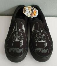 BNWT Teenage Boys Mens Sz 7 Star Wars Darth Vader Black Slip On Canvas Shoes