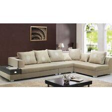 Divano soggiorno 340 cm stile moderno colore sabbia ad angolo microfibra |04