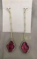 New Kendra Scott Charmian Drop Earrings Red Berry Illusion $80.00