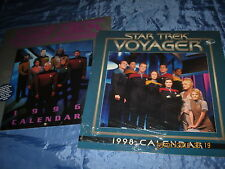 STAR TREK  Kalender  VOYAGER 1998 &  The Next Generation 1996 , FILM Fanartikel