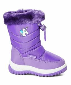 Adorababy Girls Purple Unicorn Snow Boots - Various Sizes