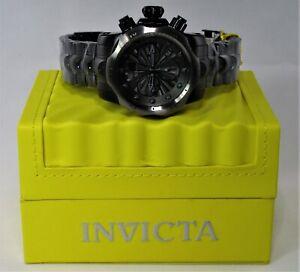 Invicta Venom Black Stainless Steel Swiss Movement Chronograph Watch 53.7mm Dial