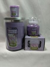 Yankee Candle Lavender Lot of 4 1 22 oz Large 1 3.7 oz Small 1 Votive tealight