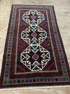 Afghan Rugs Handmade  %100Wool hand-knotted  195x110 CM