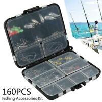 160pcs/box Fishing Accessories Kit Including Jig Hooks fishing Sinker Tools D7X8