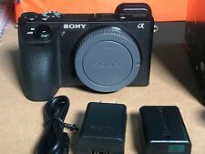 Sony Alpha a6500 24.2MP Digital Camera - Black (Body Only) w/ 637 shutter count