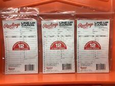 36 RAWLINGS BASEBALL/ SOFTBALL LINE - UP CARDS 17LU 4 - PART SYSTEMNEW IN PACK