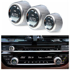 AC Climate Control Volume Button Knob Crystal Ring Cover Trim for BMW X5 F15 F16
