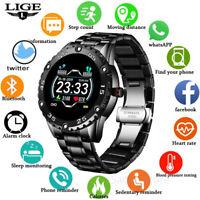 LIGE Smart Watch Men IP68 Waterproof Sport Watch Call Alarm heartrate reminder