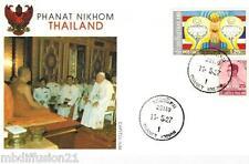 2005-ENVELOPPE, FDC 1°JOUR!!!**VATICAN-VISTE DU PAPE THAILANDE**TIMBRE THAILAND