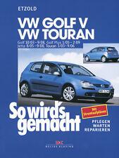 VW GOLF 5 2003-2008 TOURAN JETTA REPARATURANLEITUNG SO WIRDS GEMACHT 133