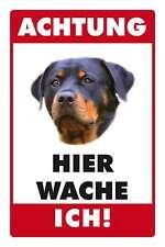 Blechschild - ROTTWEILER -  HIER WACHE ICH -  20x30 cm 23008