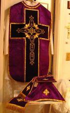 Purple Violet Chasuble Vestment Fiddleback 5 Pieces NEW Roman Catholic Latin