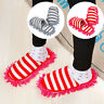2Pcs Mop Slippers Lazy Floor Foot Socks Shoes Quick Polishing Cleaning Floor