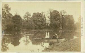 Dallington Northampton Gentleman Rowing Boat River   by W W Law    QZ.108
