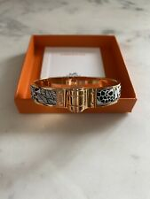 Authentic Hermes The Three Graces Scarf hinged bracelet rose gold S