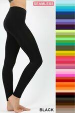 Zenana Long Nylon Leggings Seamless Full Length Spandex Stretch Soft High Rise