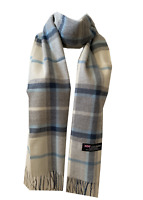 New Winter Womens Mens 100% Cashmere Wool Wrap Scarf Plaid Scarves (#41)