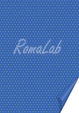 2 FOGLI in cartoncino color blu A4 stampato a pois bianchi x SCRAPBOOKING