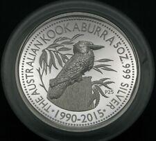 AUSTRALIA 8 Dollars 2015 High Relief Proof - Silver - 25th Anniv. of Kookaburra*