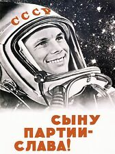 La propagande soviétique URSS GAGARIN COSMONAUTE communisme Poster Art Print bb2726a