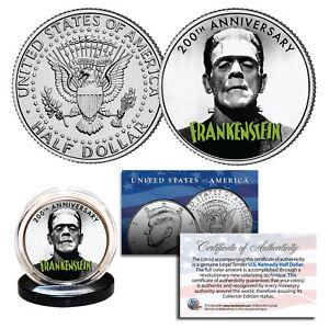FRANKENSTEIN - The First 200 Years - 2018 Genuine JFK Half Dollar U.S. Coin