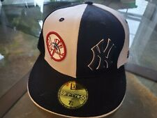 New York Yankees New Era 59 FIFTY ⭐ 50 Dual Logo Size 7 1/4 Hat Cap Fitted 58cm