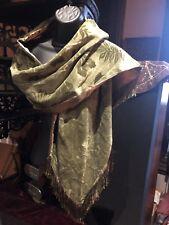 Vintage Style Leaf Green Velvet Scarf Wrap Shawl