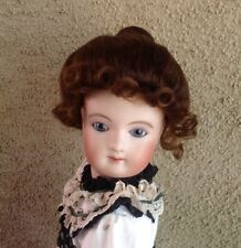 "Prestige Doll Wig! Mohair Doll Wig Size 6"" Brown For French Fashion Dolls Plus!"