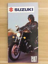 Vintage 1987 Suzuki Quads Motorcycles Sales Brochure **FREE SHIPPING!!**