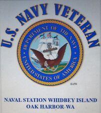NAVAL STATION WHIDBEY ISLAND-OAK HARBOR-WA* U.S NAVY VETERAN W/EMBLEM* SHIRT