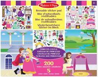 Melissa & Doug Reusable Sticker Pad - PrincessCastle
