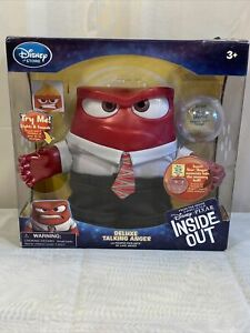 """Deluxe Talking Anger 6"""" Inside Out Disney Pixar Toy New in box Needs Batteries"""