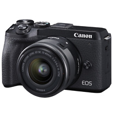 Canon EOS M6 Mark II 32.5MP Mirrorless Digital Camera with 15-45mm Lens (Black)