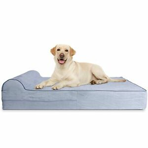 Jumbo XL Orthopedic 7-inch Thick High Grade Memory Foam Dog Bed With Pill... New