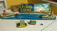 YONEZAWA TIN, MECHANICAL FERRY BOAT COMPLETE & WORKING WITH ORIGINAL BOX! SWEET!