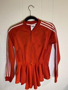 Vintage Adidas Jeremy Scott Red Peplum Zip Jacket