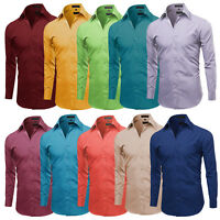 Men's Long Sleeve Classic Fit Premium Button Down Premium Dress Shirt